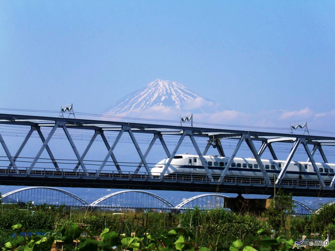 Shinkansen e Monte Fuji